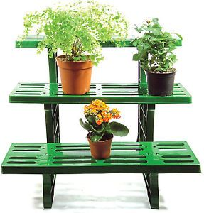 3 Tier Etagere Straight Potted Plant Pot Garden Display Stand