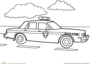 Police Car Worksheet Education Com Police Cars Free Preschool Printables Printables Free Kids