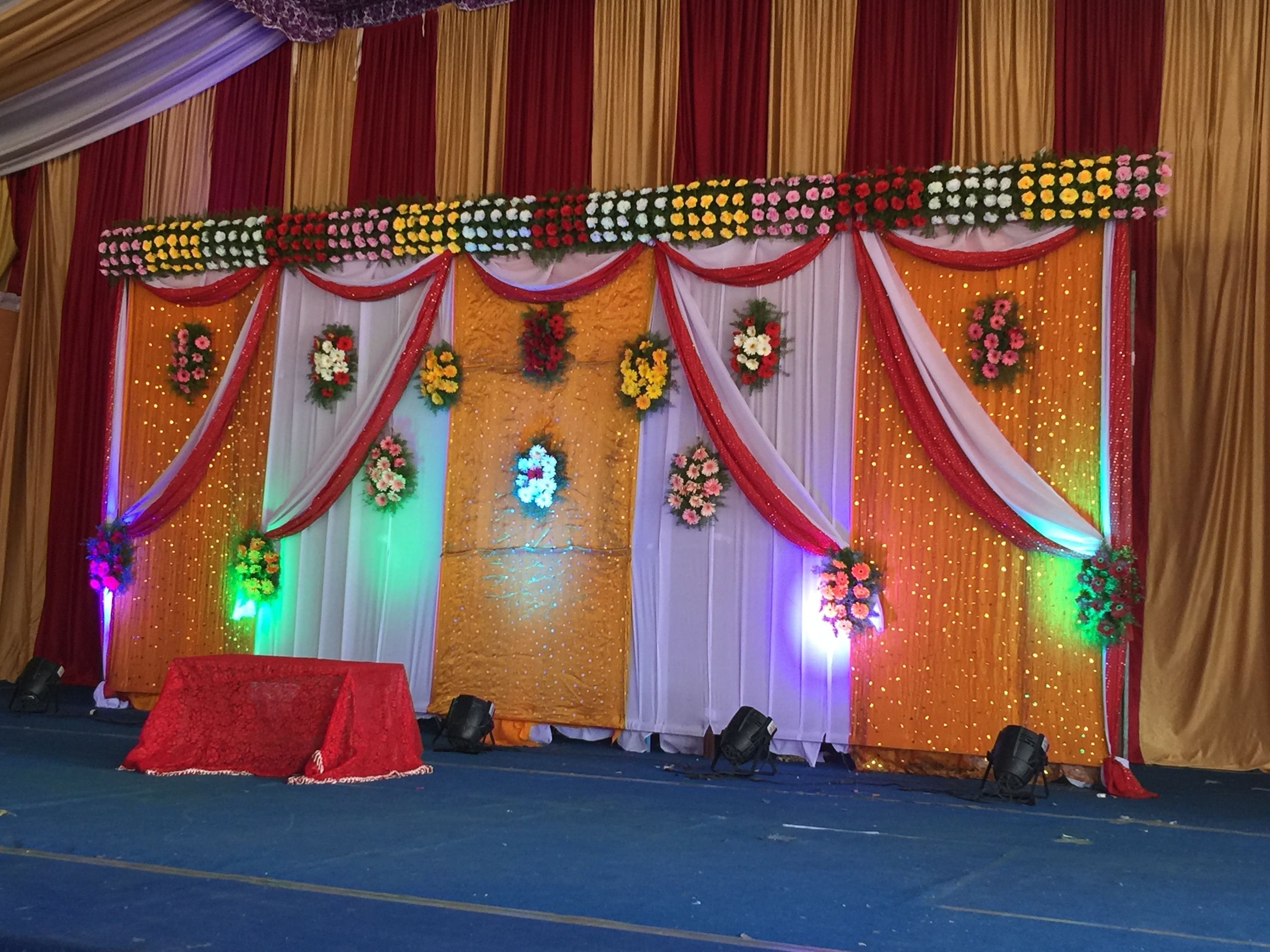 Back Drop Decorations Backdrops In 2019 Wedding Stage