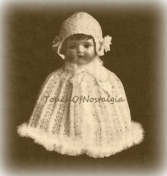 BABY CAPE Knitting Pattern Antique EDWARDIAN by touchofnostalgia7 ...