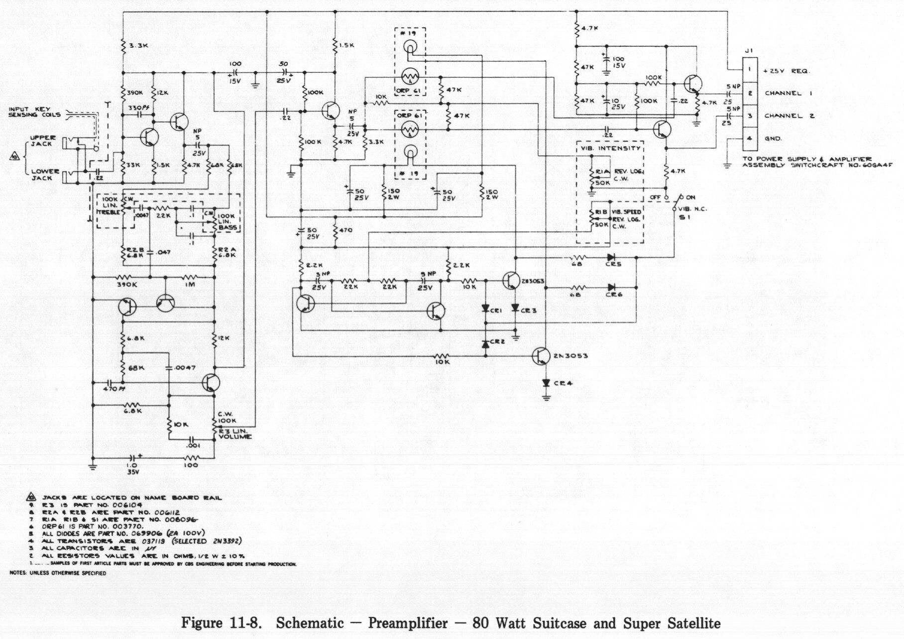 Fender Rhodes 5 Pin Pre amp Schematics | All Rhodes lead somewhere ...