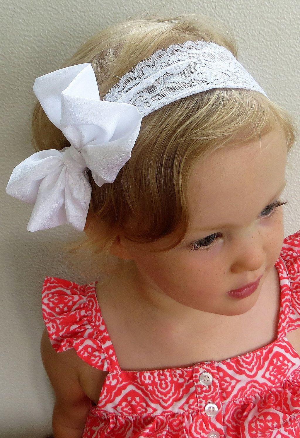 Fulltime Baby Girl Big Bow Headband Elastic Solid Color Cotton Headwrap Head Wrap Photo Prop
