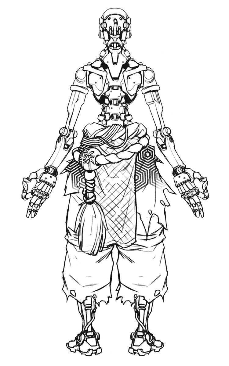 Zenyatta Sketch from Overwatch | awsome art | Pinterest | Dibujo ...
