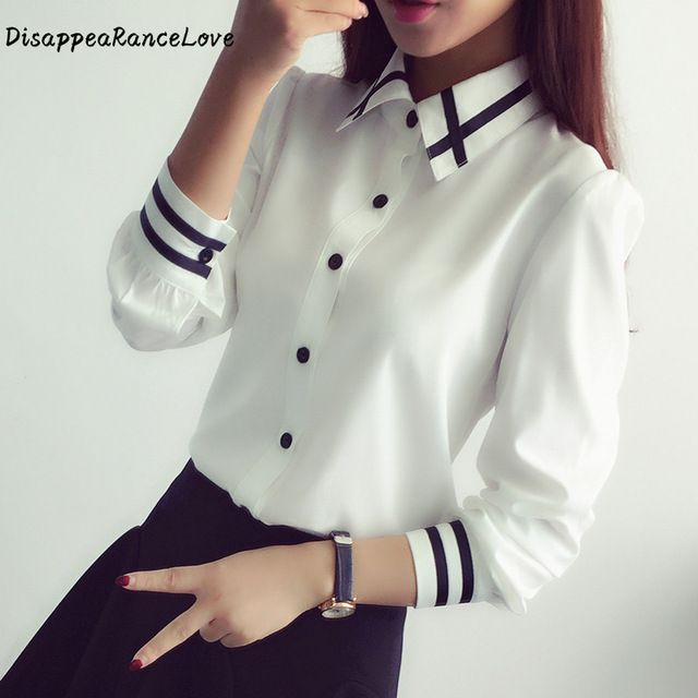 Las Office Shirts Quality Shirt Directly From China White Suppliers Blusas Ol Elegant Women 2017 Korean Style Long Sleeve