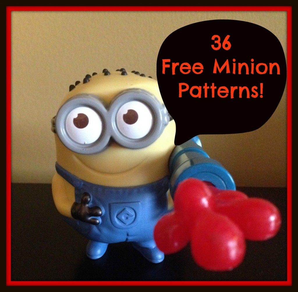 36 free minion patterns the knit wit by shair hekl pinterest 36 free minion patterns the knit wit by shair separated into crochet knitting patterns bankloansurffo Images