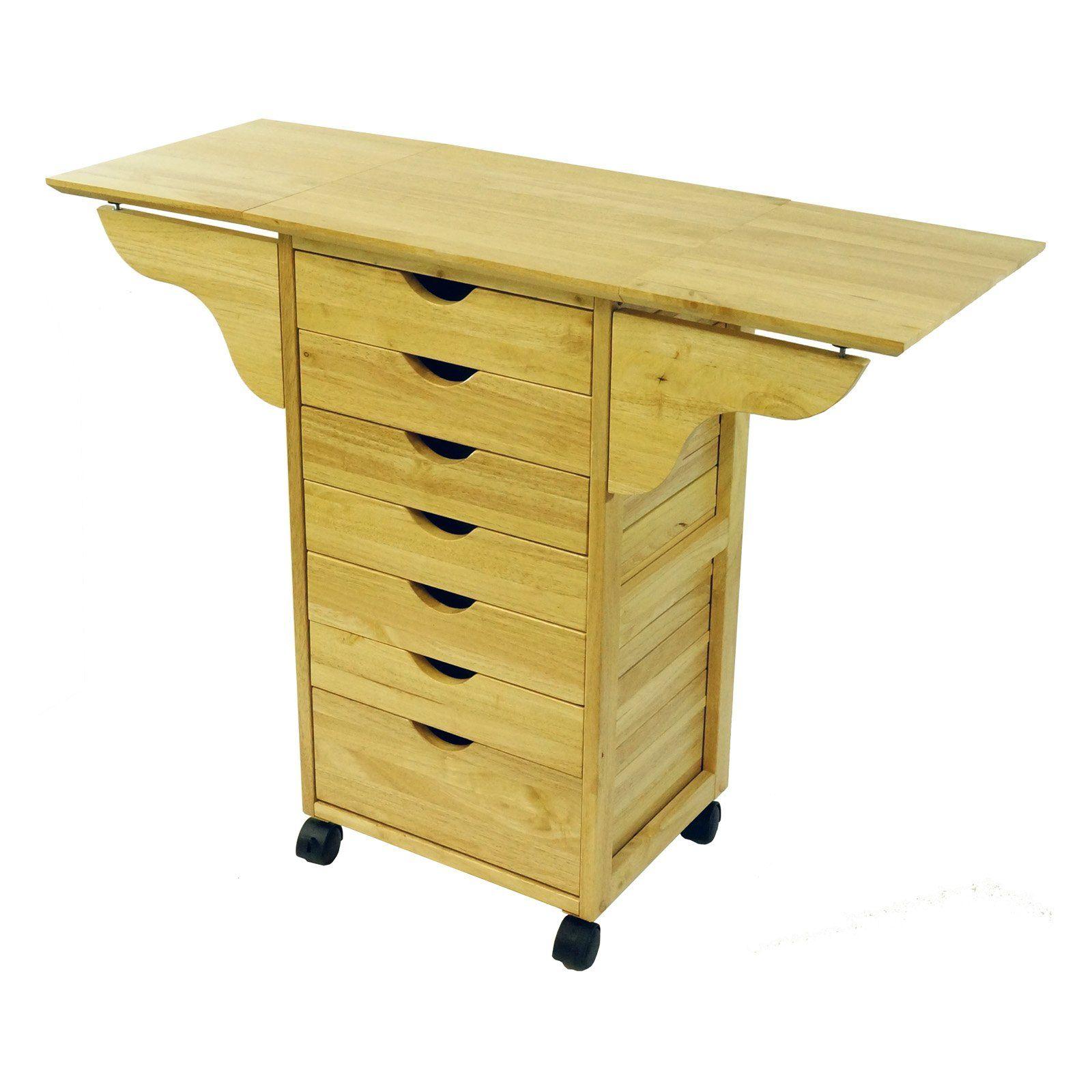 Organization Drop Leaf Cart 7 Drawers 103 99 Kitchen