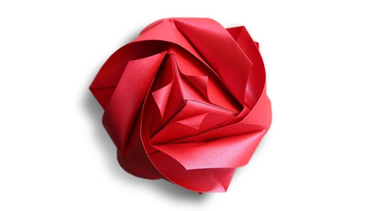 Origami Royal Rose Cube Maria Sinayskaya Youtube Origami