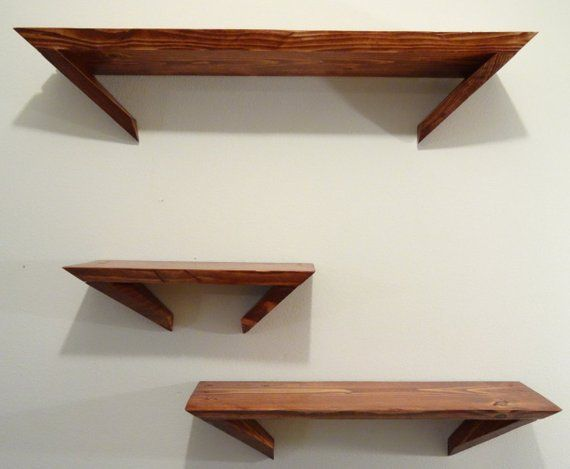Pine Angle Shelves Set Of 3 In 2019 Products Pinterest