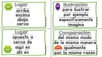 Palabras de transición (transition words) by Kinder Bilingue by Juliana Suarez | Teachers Pay Teachers