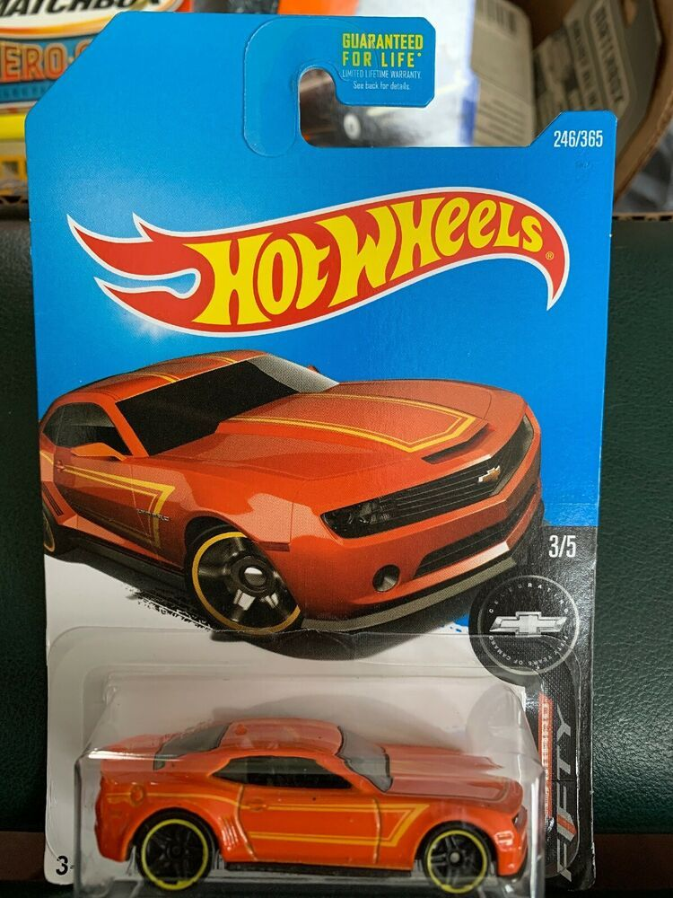 Hot Wheels 2013 Chevy Camaro Special Edition Fifty Years Orange