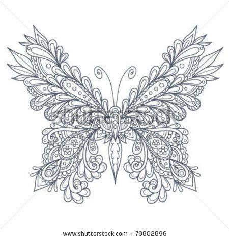 Butterfly Coloring Pages How To Draw Paisley Bing Images
