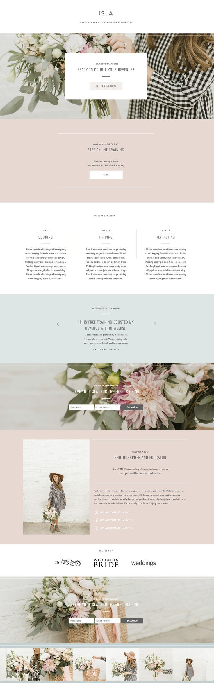With Grace and Gold | Beautiful Branding | Website design ...