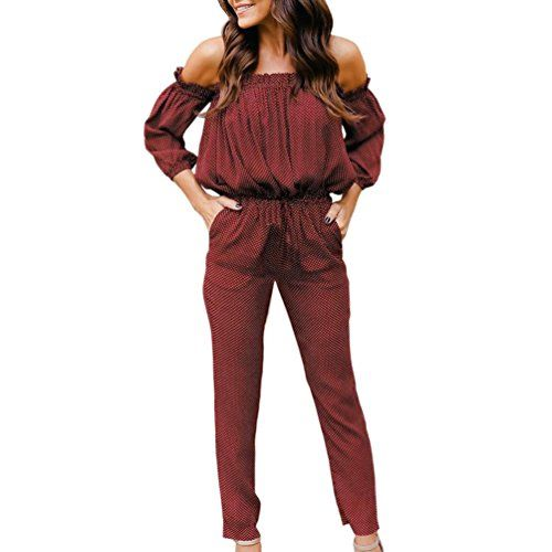 a0fbf44af0a5 Jushye Women Off Shoulder Jumpsuit