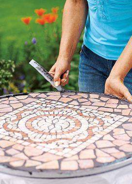 Tischplatte Aus Mosaik Fliesen Mosaiktisch Mosaik Und Mosaik Diy