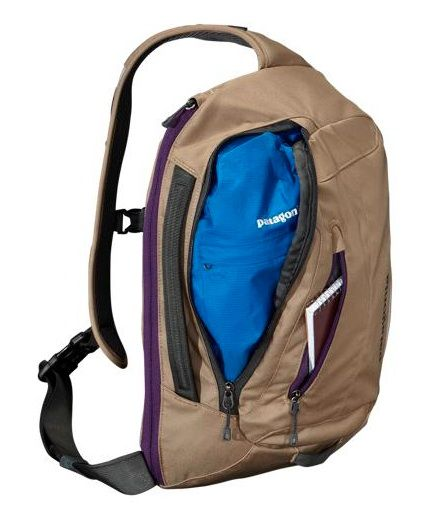 a8dc916c26 Review of Patagonia s Sling Bag. Messenger style shoulder bag with  stability of a backpack.