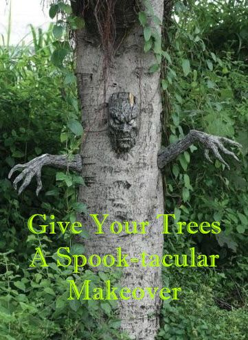 Scary Tree Man Halloween Decoration Halloween ideas, Outdoor