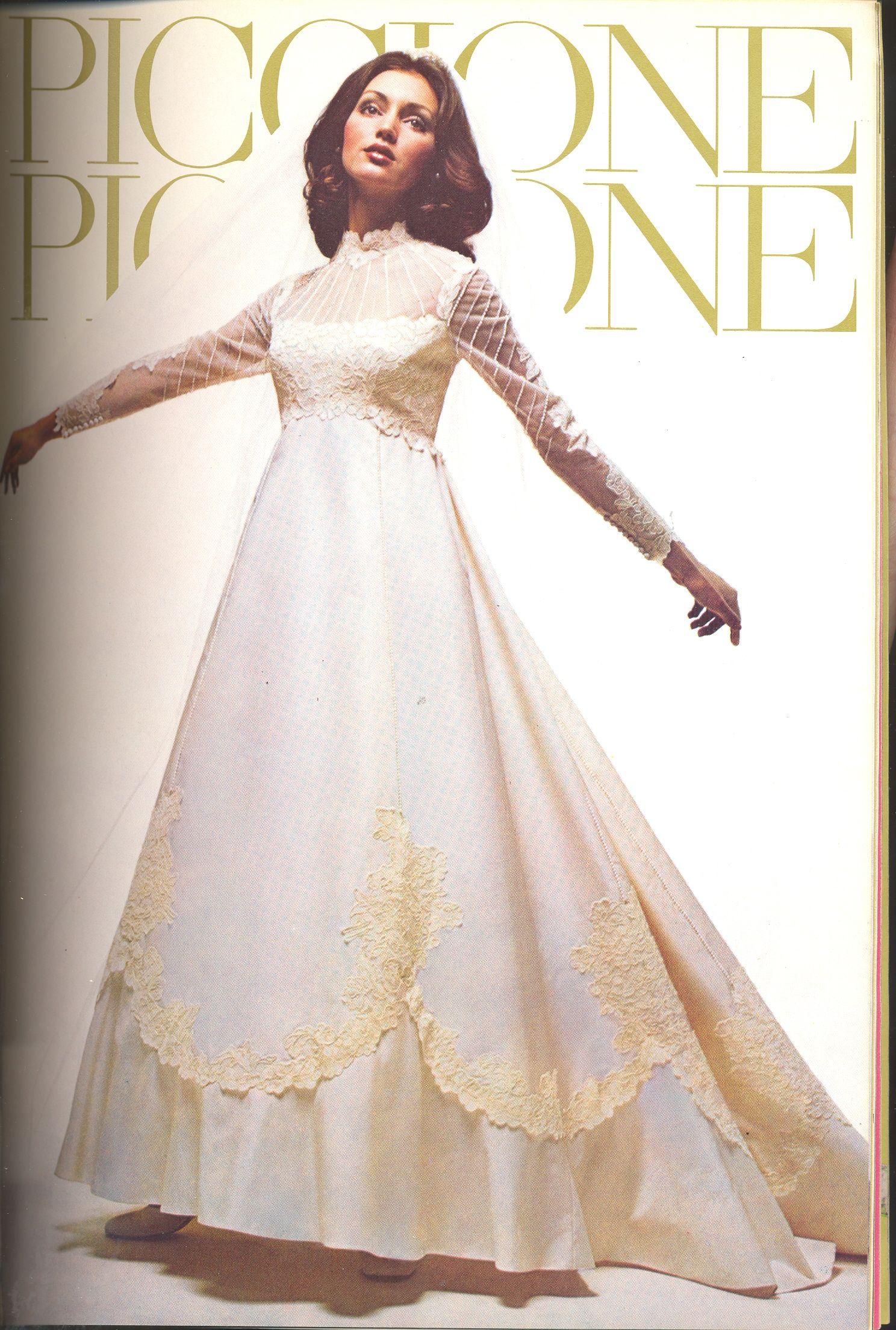 A Flash of the Past! - AUGUST 1974   Bride dress vintage ...