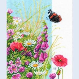 Wild Flowers by Marjolein Bastin - counted cross-stitch kit Lanarte