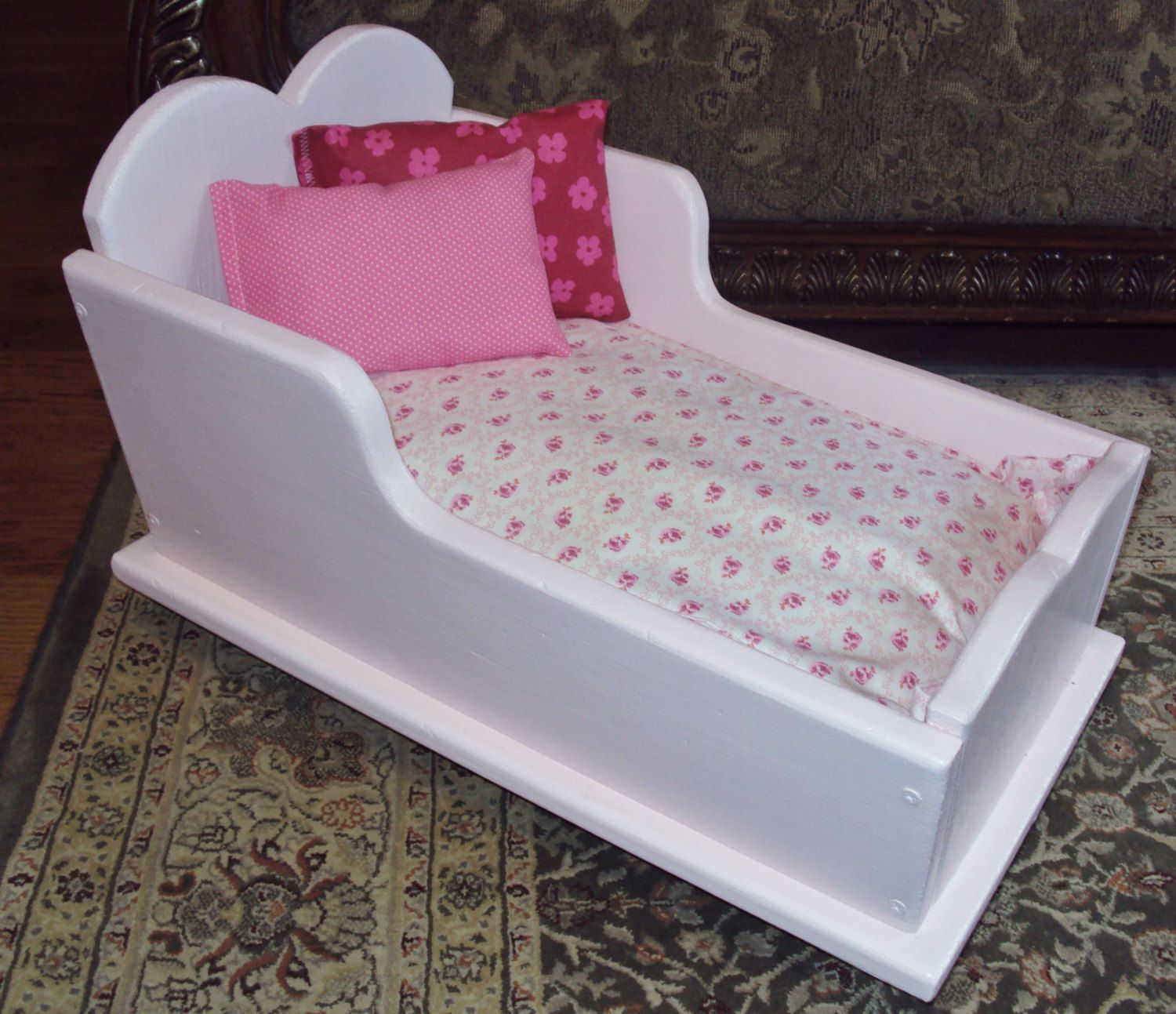 PET BED Pink Baby Cradle wood Recycled Princess Bed spoiled pets ...