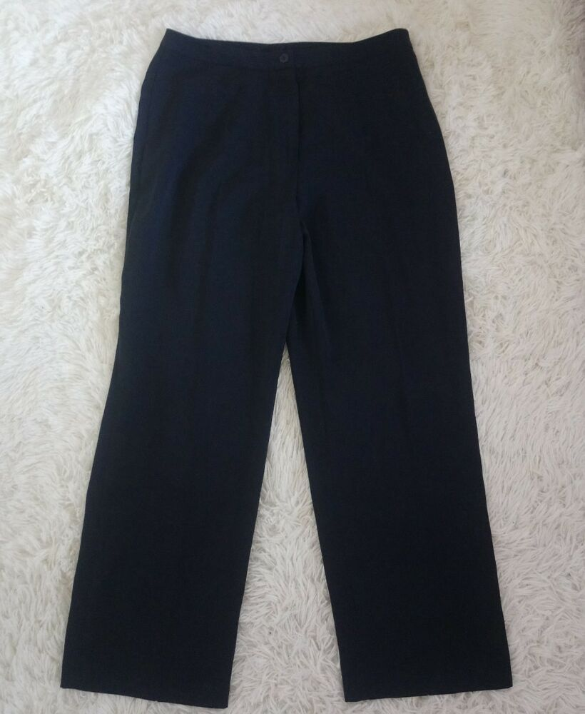 Ladies M/&S Classic Size 8  Soft Cotton Casual Trousers
