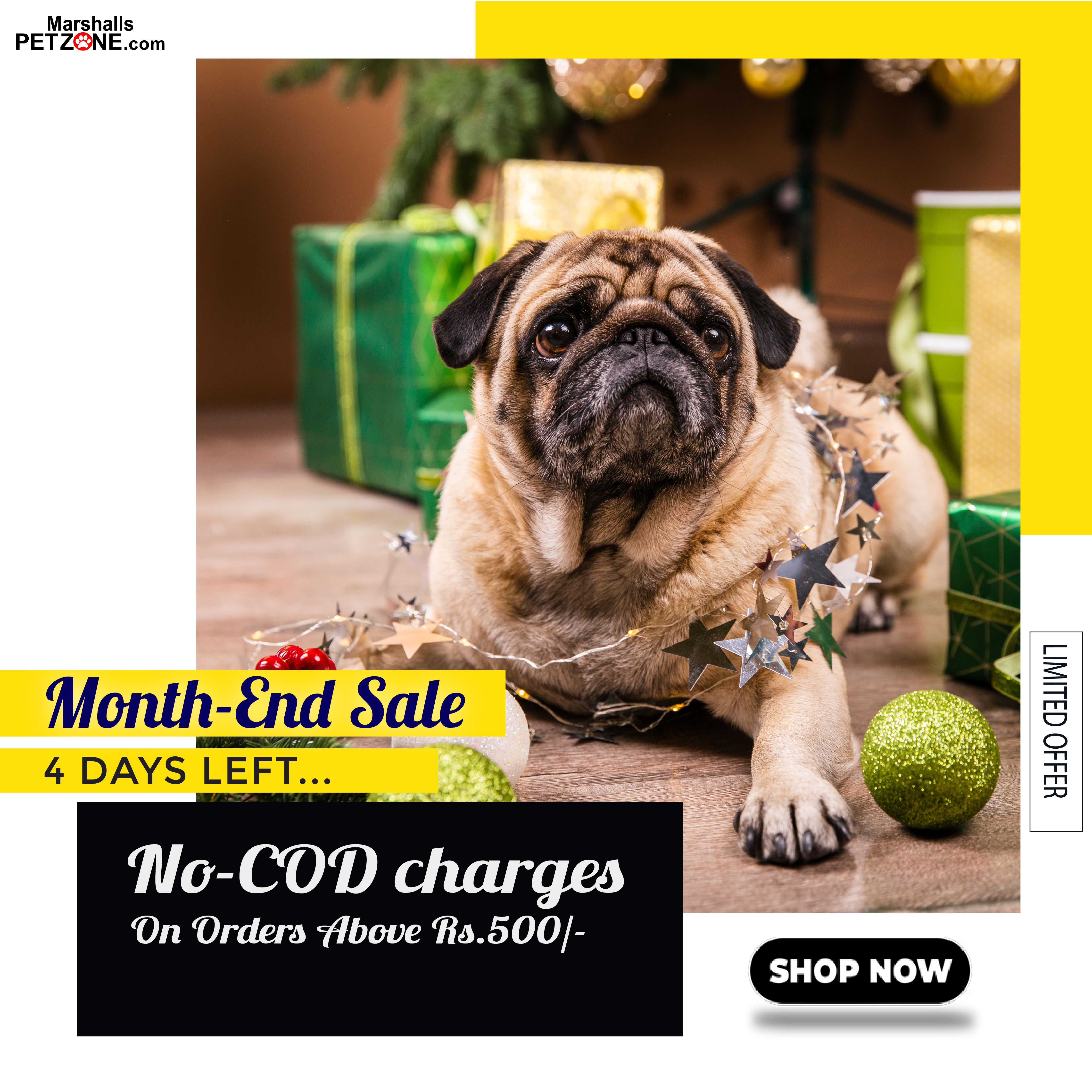 Shop for Rs. 500 and above to qualify for COD without