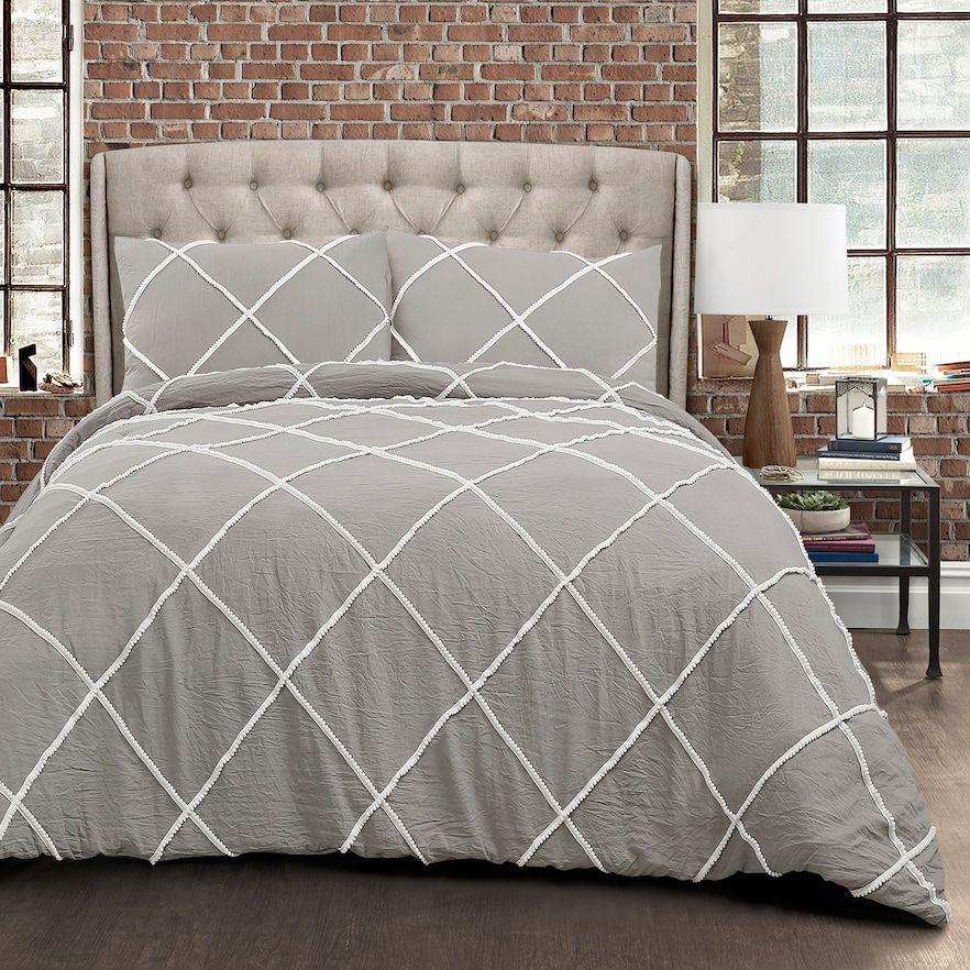 Lush Decor Diamond Pom Pom 3-piece Comforter Set in 2018 Products