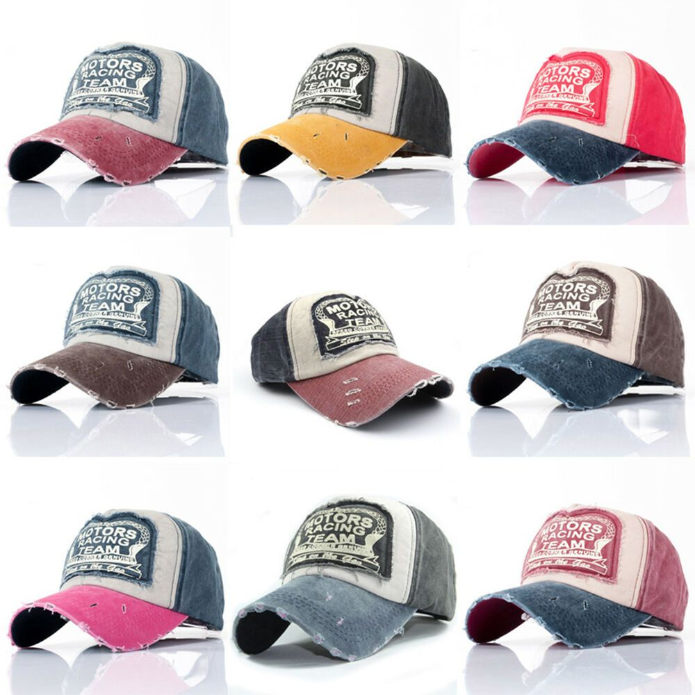 Unisex MOTORS RACING Baseball Cap Trucker Sports Snapback Hip-hop Hat Adjustable