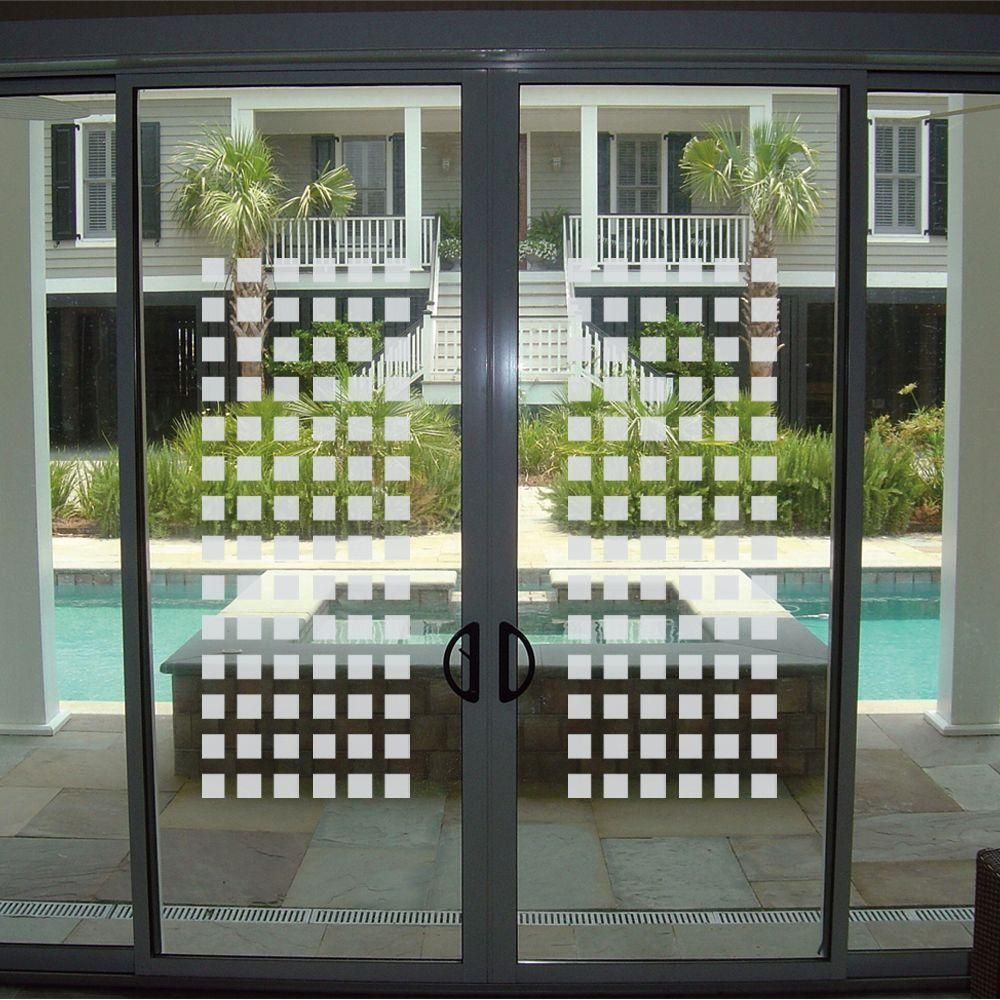 Etched Fx Frosted Blocks 0 012 In W X 9 In H Glass Etch Window