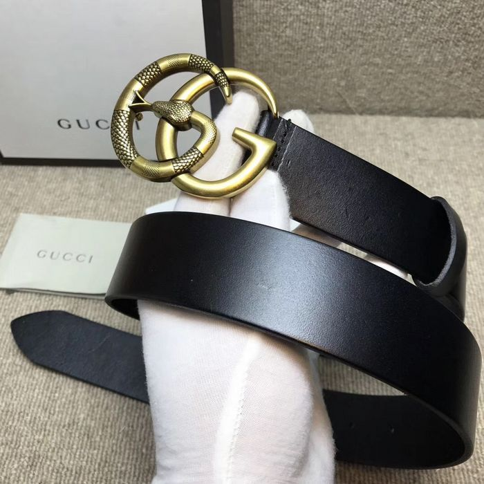 bdc6e92cd0f Gucci Black Leather belt with Double G buckle with snake in 2019 ...