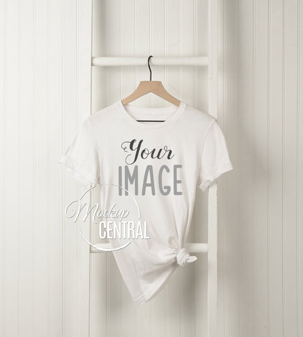 Download T Shirt Mockup On Wall Blank White Tee Fashion Design Stock Etsy In 2021 Shirt Mockup T Shirt Photo White Tees