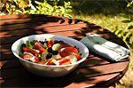 Hummus Salad with Pecan Dijon Dressing