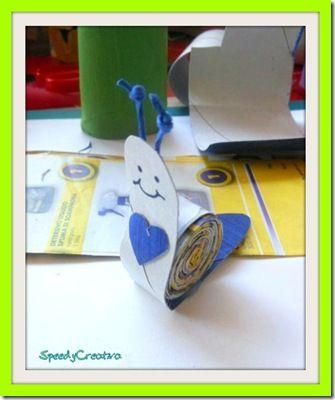 Speedy Creativa- Lumachina con i volantini del Supermercato