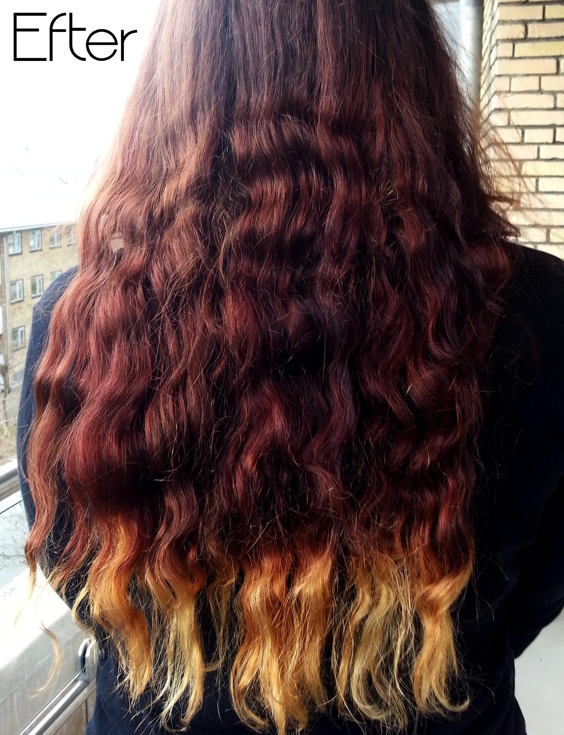 Dip Dye I Did It Artsy Fartsy Ombre Curly Hair Dip Dye Hair Curly Hair Styles