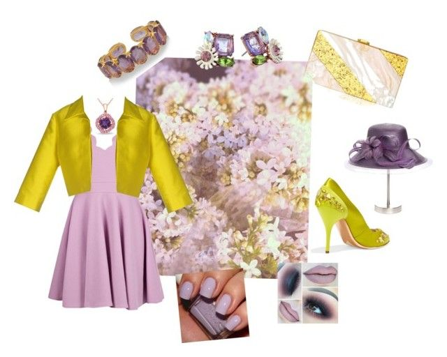 """""""Easter and shades of Spring"""" by sharee64 ❤ liked on Polyvore featuring Boohoo, P.A.R.O.S.H., Vintage Styler, Giovannio, Oscar de la Renta, Bounkit, Betsey Johnson and Essie"""