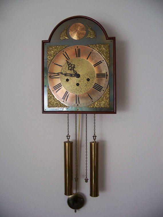 Vintage Clock Wag On Wall Chimes Rare Wanamakers Vintage Clock Clock Wall Clock