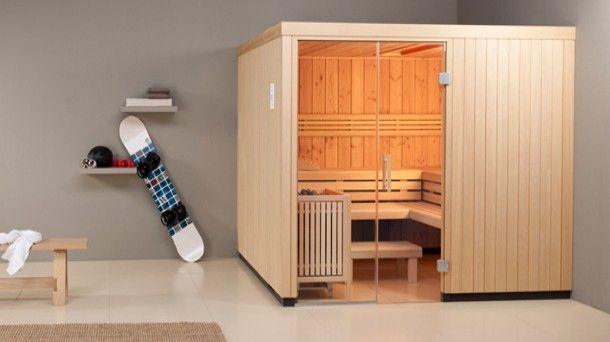 sauna baleo die finnische sauna in fichtenholz mit. Black Bedroom Furniture Sets. Home Design Ideas