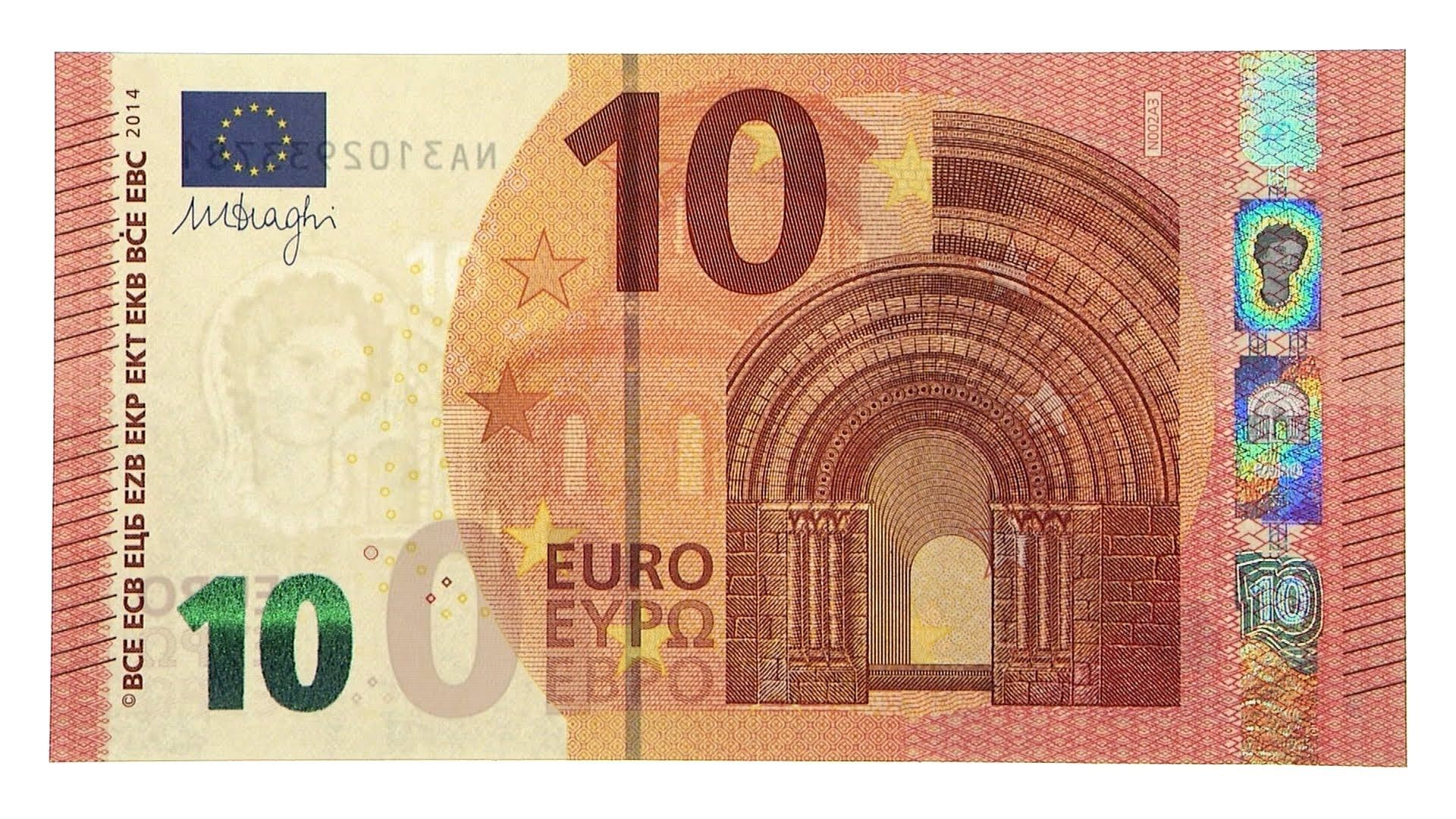 The 10 Euro Bill Also Features Roman Architecture Or As We Would Say