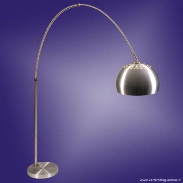 1v0262 booglamp xxl geborsteld staal led spaar gloeilampen verlichting kopen online of