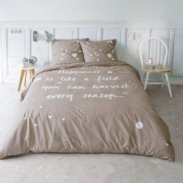 housse de couette en coton biologique happiness la redoute. Black Bedroom Furniture Sets. Home Design Ideas