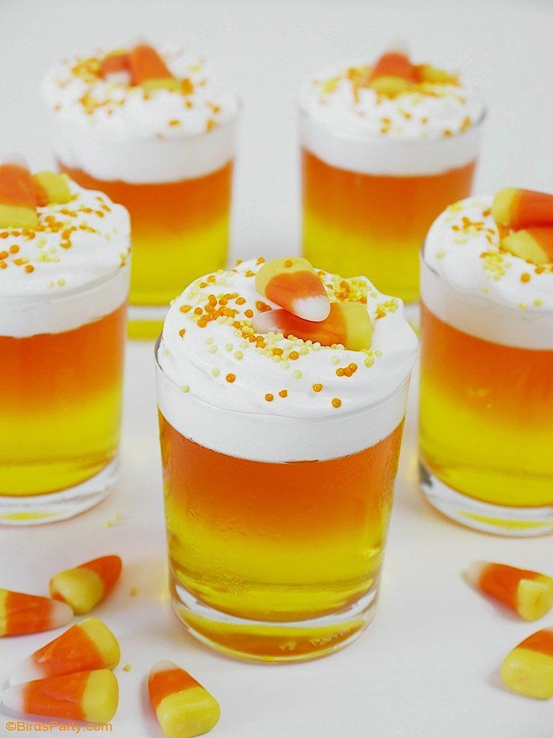 Halloween Candy Corn Jello Cups | Recipe | Hot chocolate ...