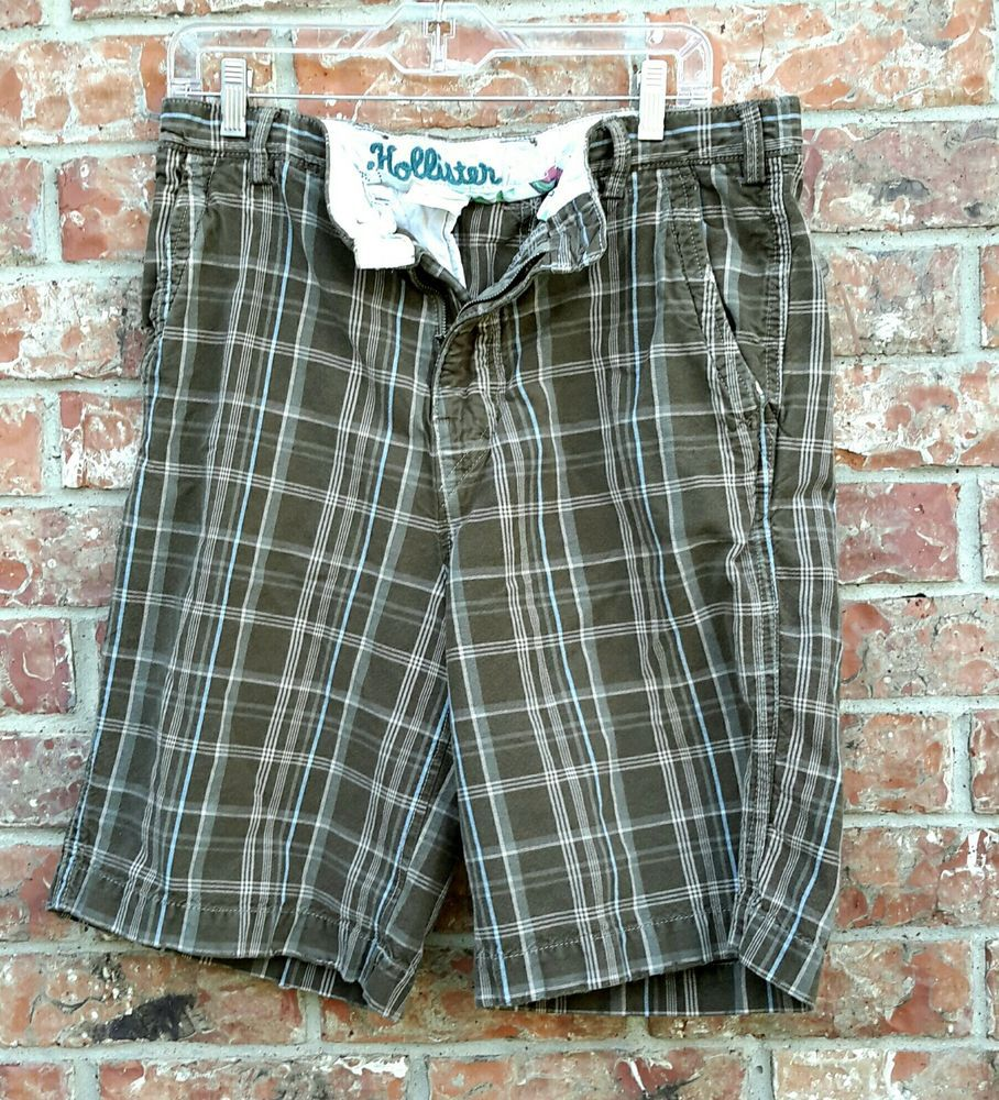 Hollister Plaid Shorts Grunge Tan & Brown Waking Shorts 90's Style Guys Shorts | Clothing, Shoes & Accessories, Men's Clothing, Shorts | eBay!