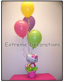 Hello Kitty Balloon party centerpiece