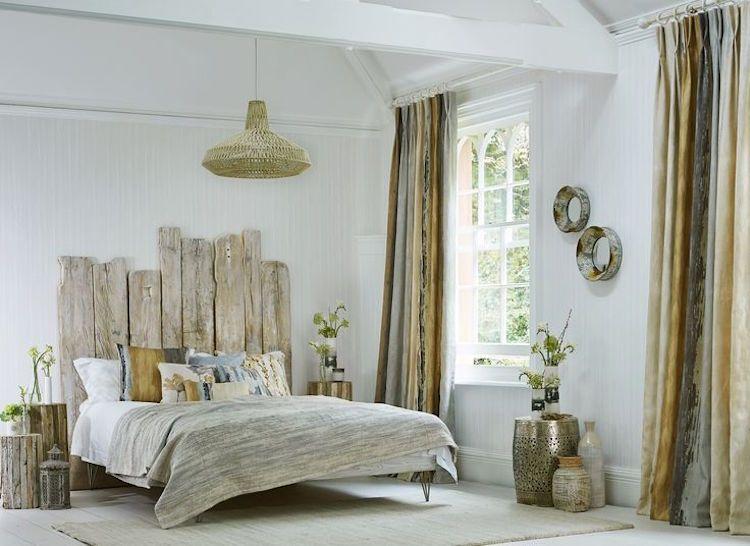 tête de lit bois flotté - une décoration romantique qui respire la