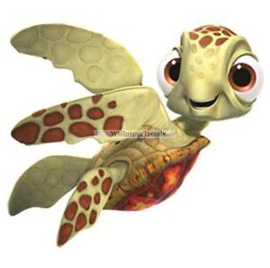 4 Inch Squirt Sea Turtle Finding Nemo Removable Wall Decal Sticker