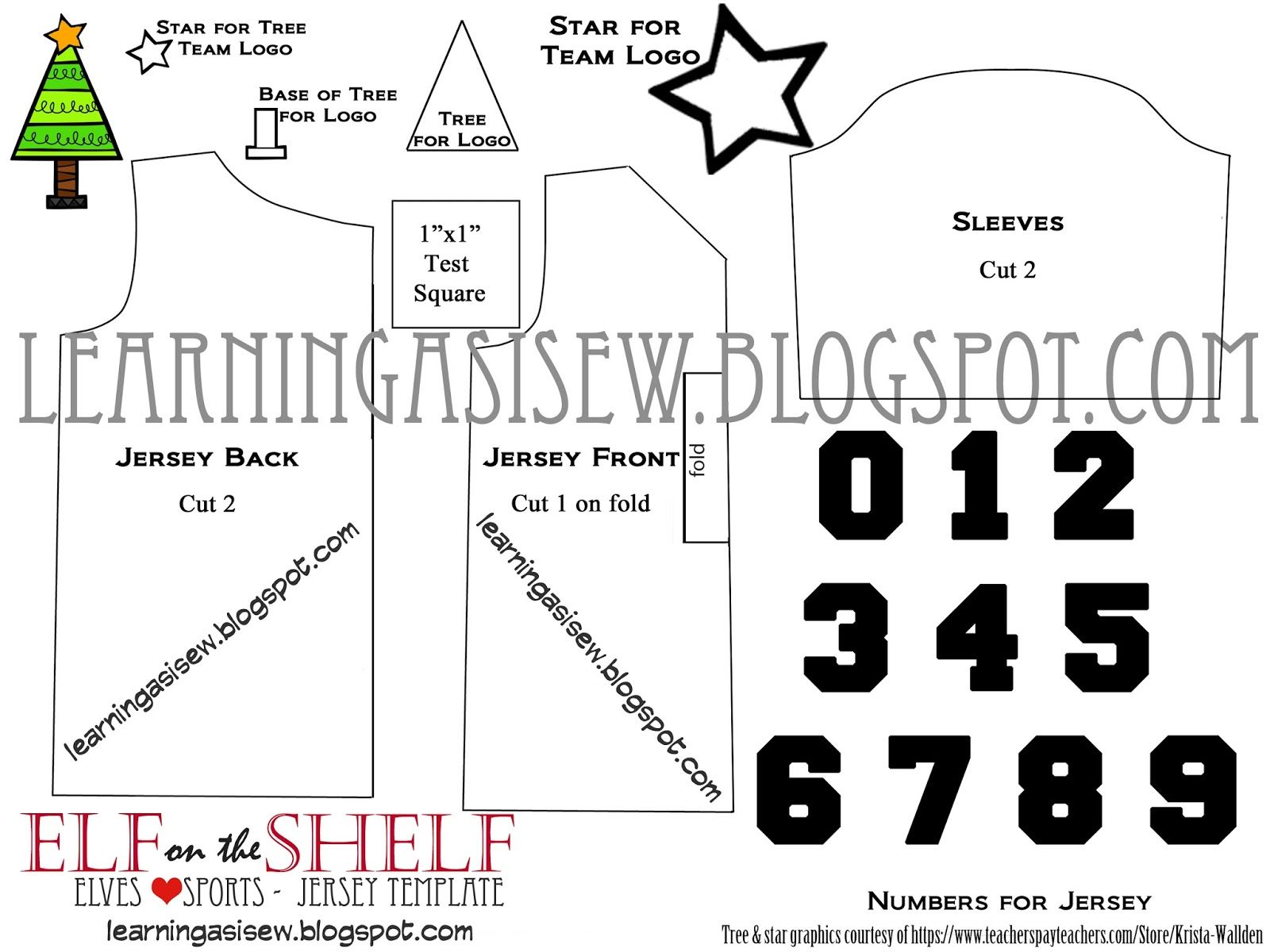 Elf+Jersey+Template+IMAGE+with+watermark.jpg (1600×1200) | Sewing ...