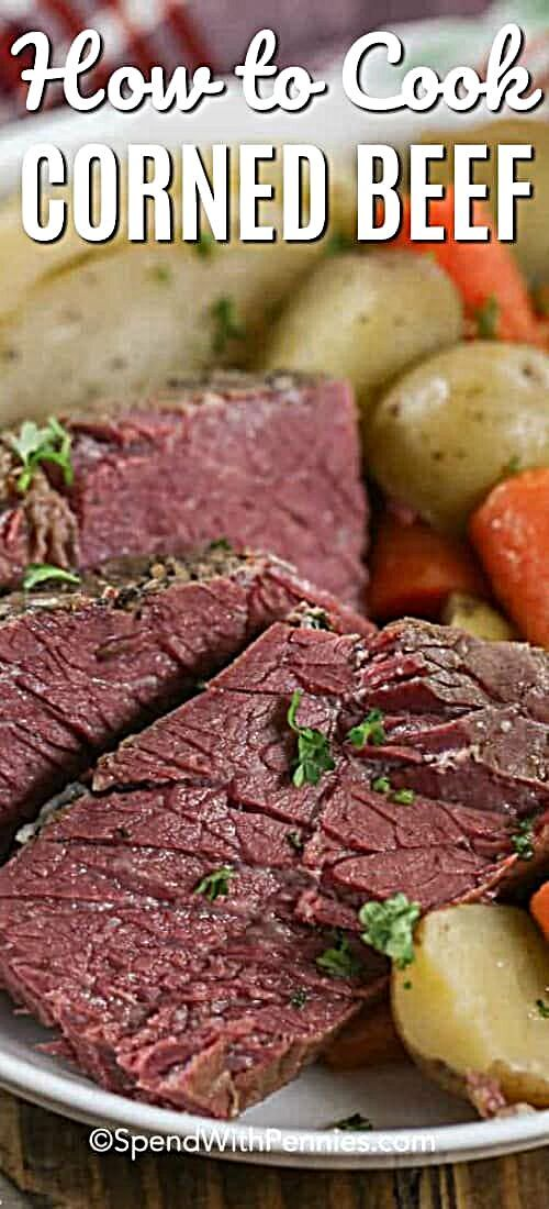 - Corned beef is a delicious meal that is made extra easy by slow simmering it in a stock pot. Just...