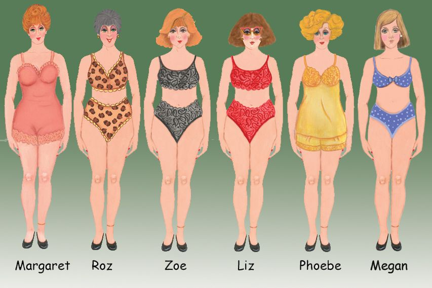 Paper dolls with needle point costumes