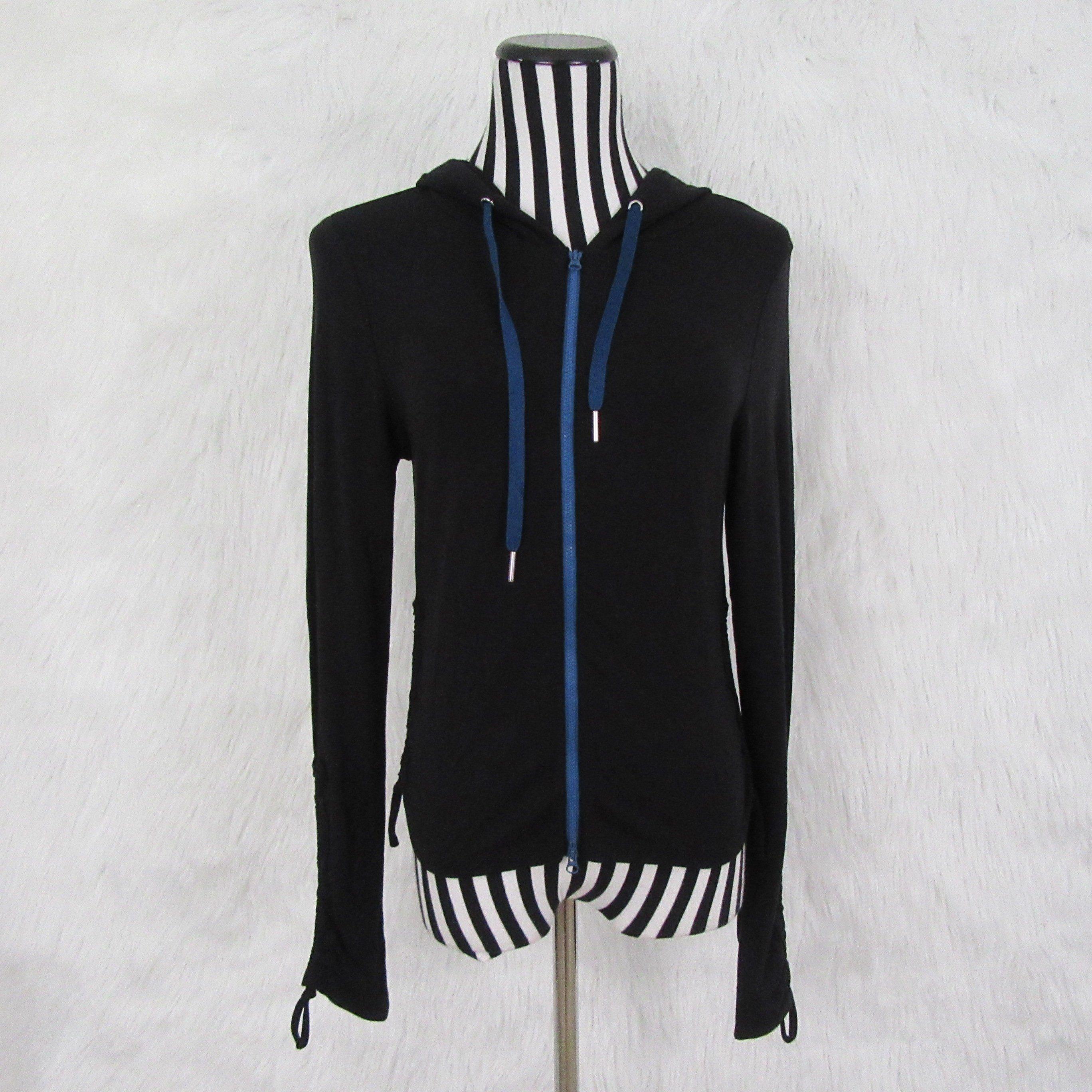 506b83c6fc6c9d Free People FP Movement Zip Black Hoodie Sweatshirt