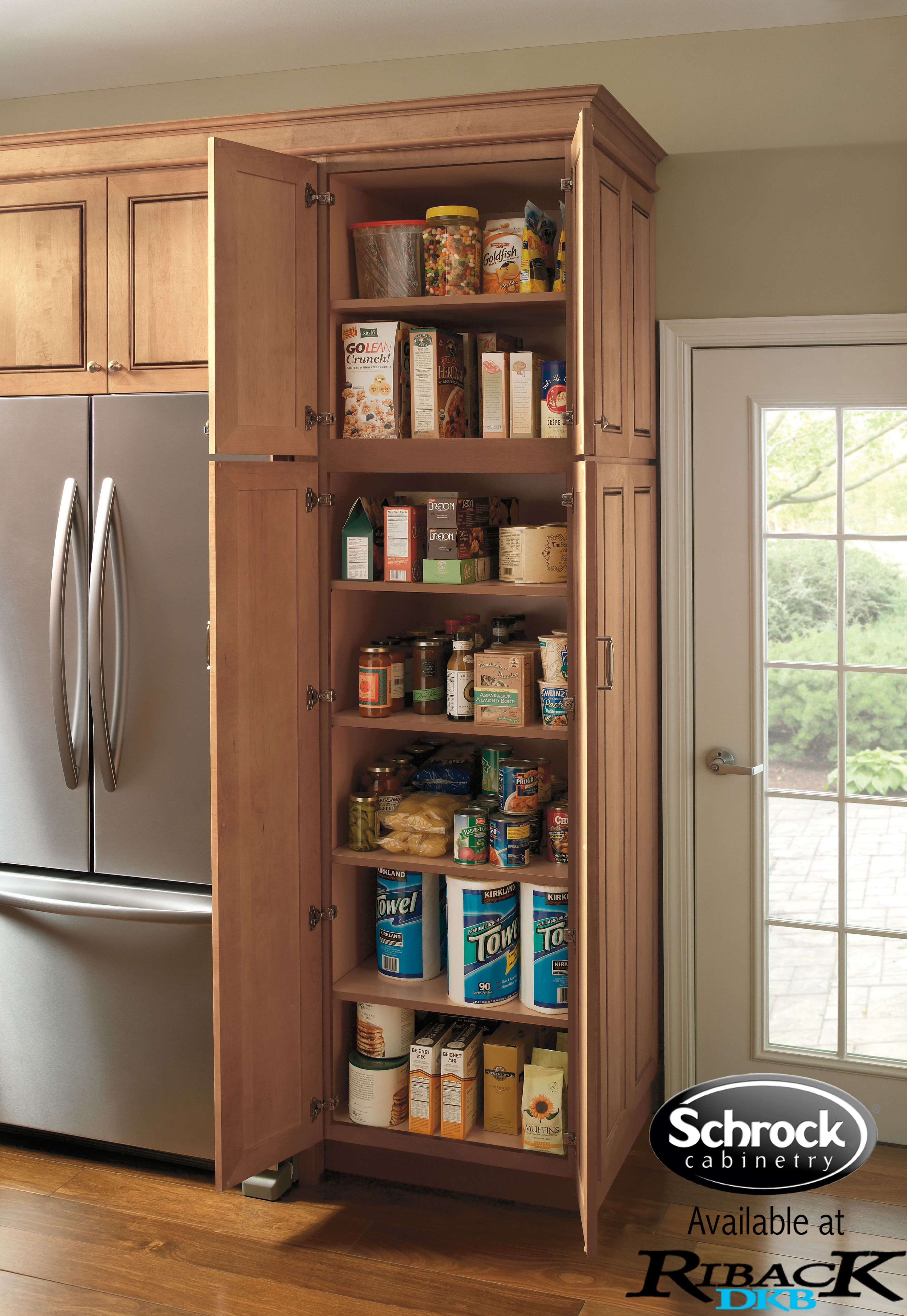 A Clic Vertical Pantry Is Always Good Option For Smaller Kitchen