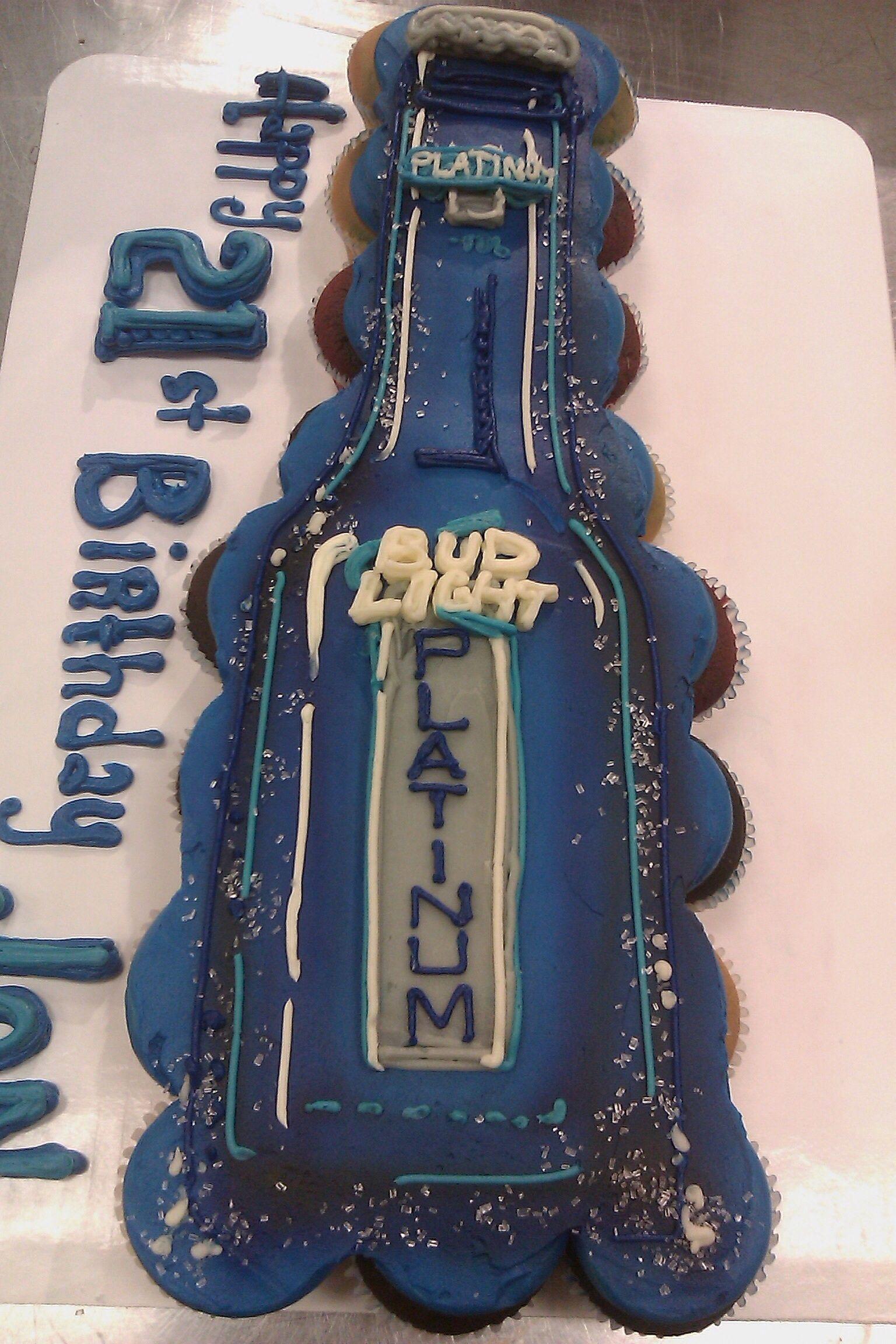 Platinum Bud Light 21st Birthday Cupcake Cake Cupcake Cakes